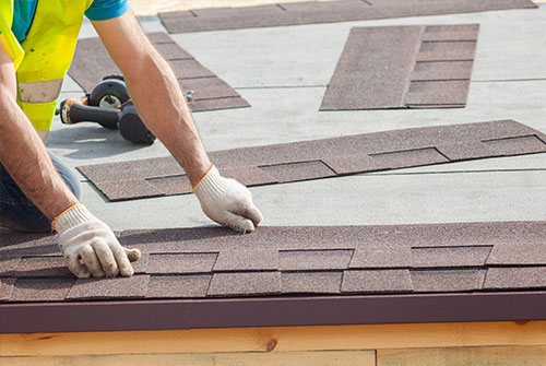 roofer working on a roof