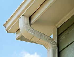 photo of a gutter outsite home